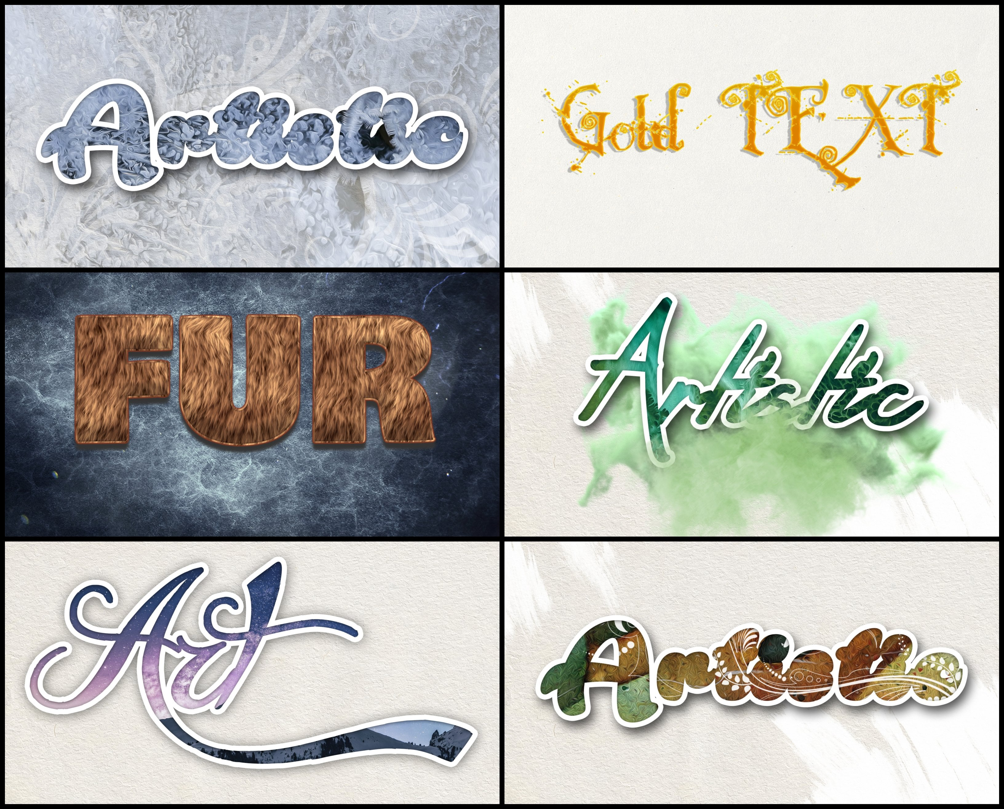 Photoshop Elements Text Effects - 40 Different Styles - 4