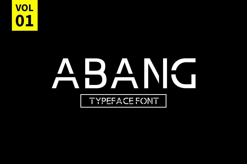 Abang Typeface Font