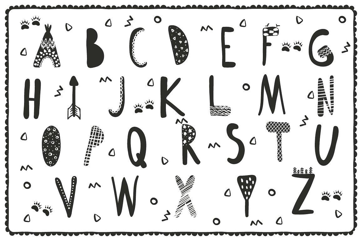 Black and White Set: 100 Minimal Elements & 10 Patterns - 5 1 3