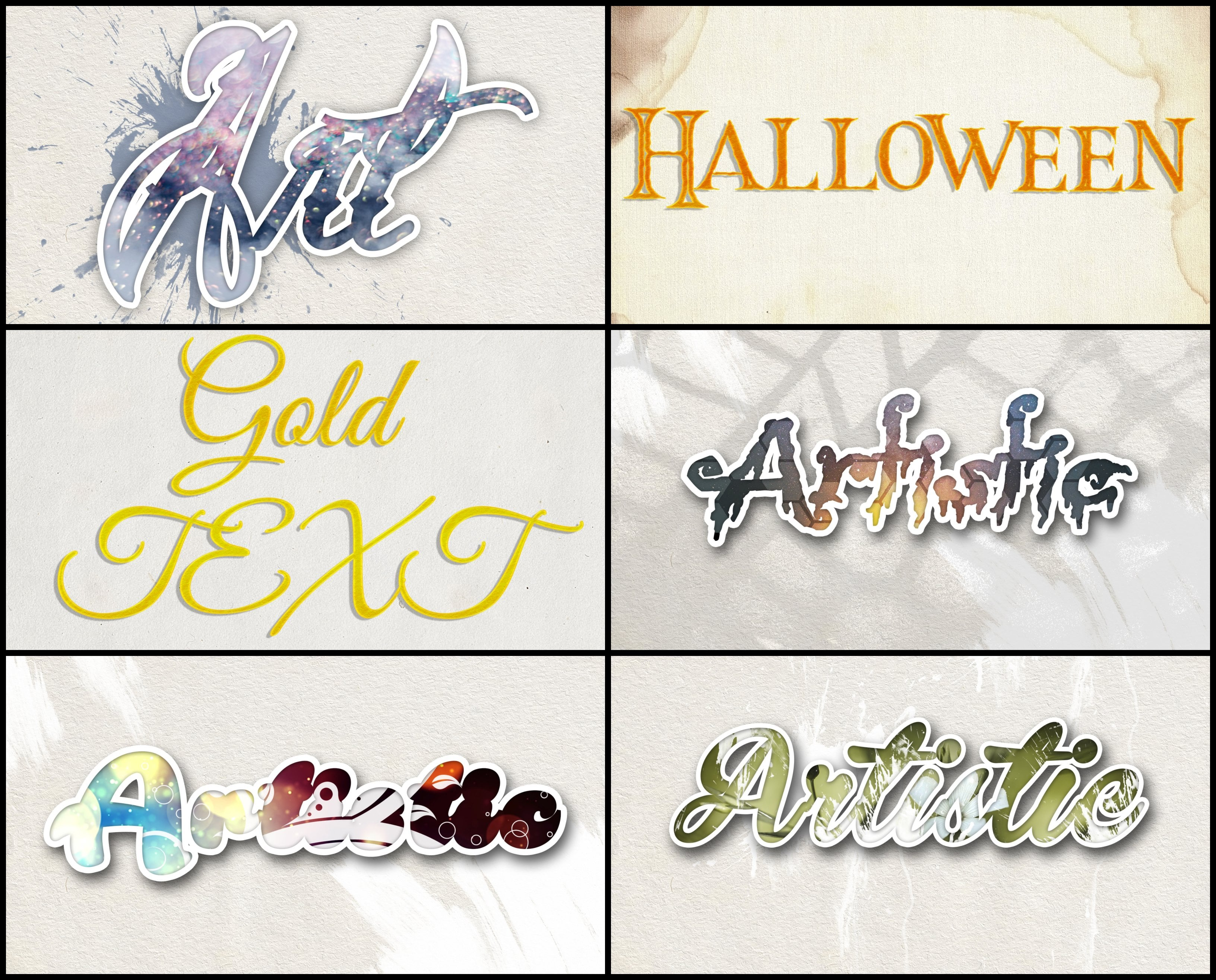 Photoshop Elements Text Effects - 40 Different Styles - 5