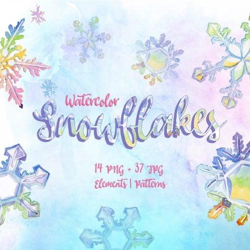 Nice snowflakes PNG watercolor set - $11 - 60 1 490x490