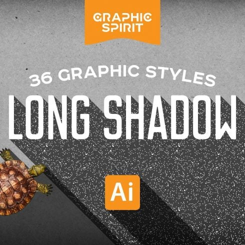 LONG SHADOW Styles For Illustrator - just $7 - 600 13 490x490