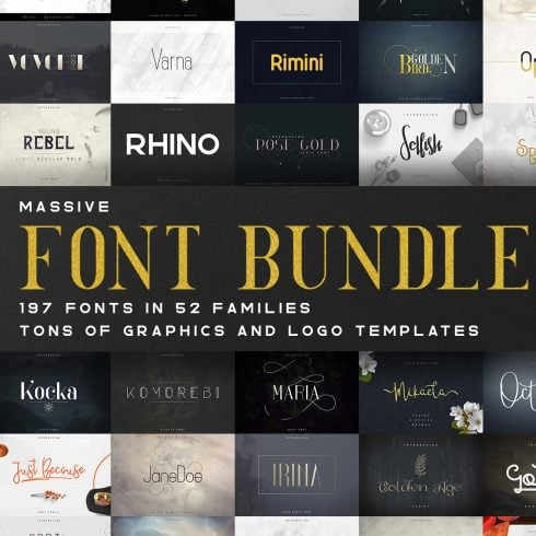 Massive Font Bundle – 197 fonts | 97% off