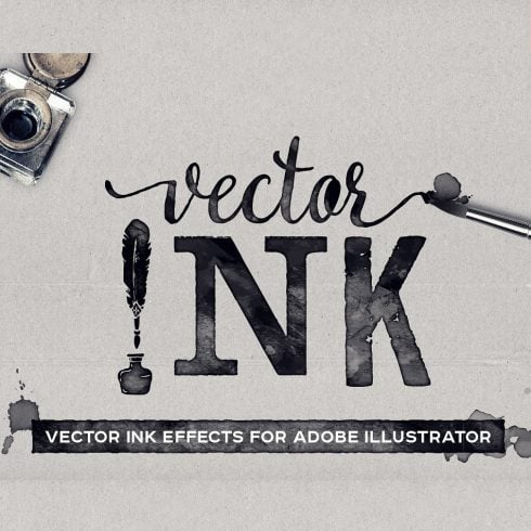 VECTOR Ink Effects For Adobe Illustrator - just $9 - 600 3 490x490