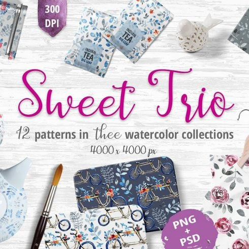 Sweet Trio - Pattern Set - $9 - 600 33 490x490