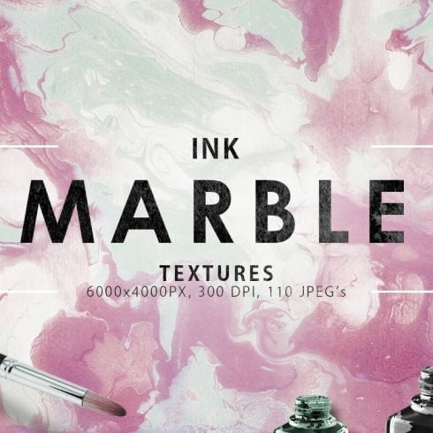 Cute Marble Backgrounds & Textures Bundle: 110 Items - $12 ONLY - 600 37 490x490