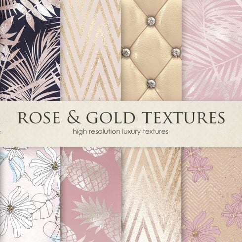 Rose, Gold, Navy Blue & Lux Textures - $4 - 600 43 490x490