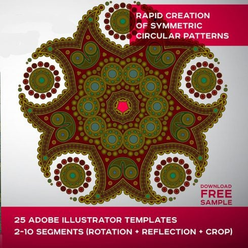 Symmetric Ornament Adobe Illustrator Templates - $15 - 600 5 490x490