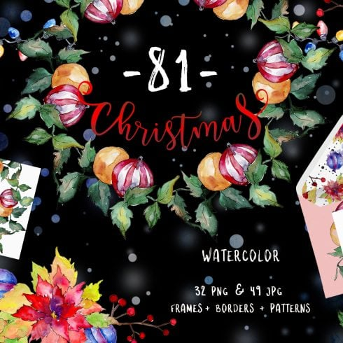 Christmas Happy Holiday PNG Watercolor Set - $11 - 601 17 490x490