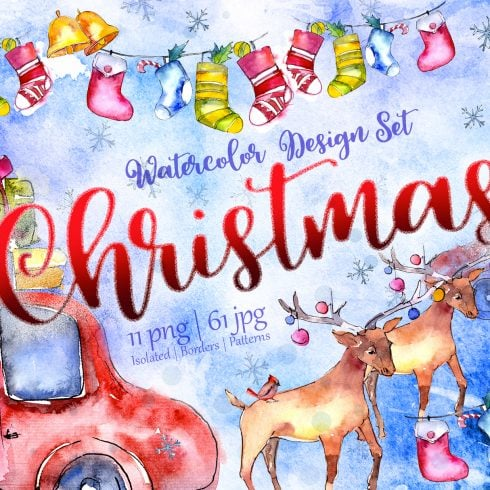 Christmas collection PNG watercolor - $11 - 603 3 490x490