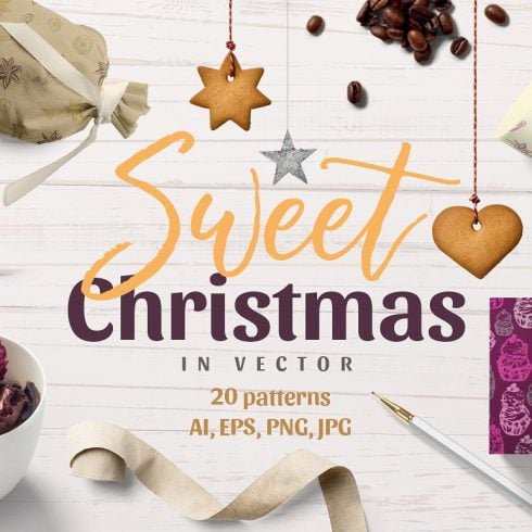 Christmas Vector Patterns - just $7 - 605 490x490