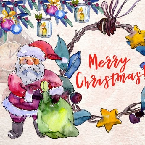 Merry Christmas holiday PNG set