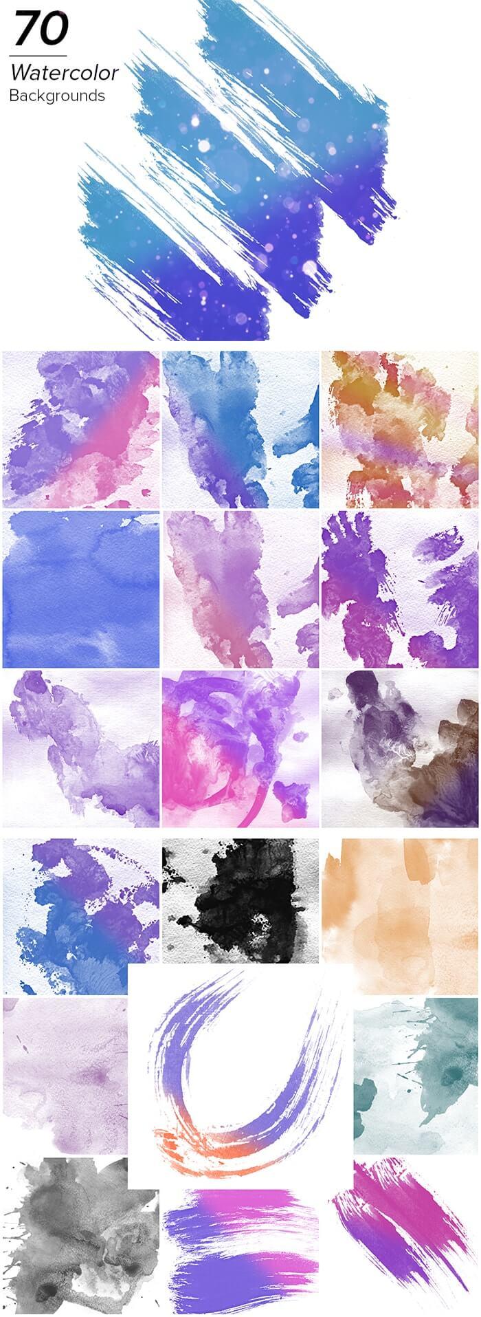 2000+ High Resolution Digital Backgrounds Bundle - $29 - 70 Watercolor Backgrounds