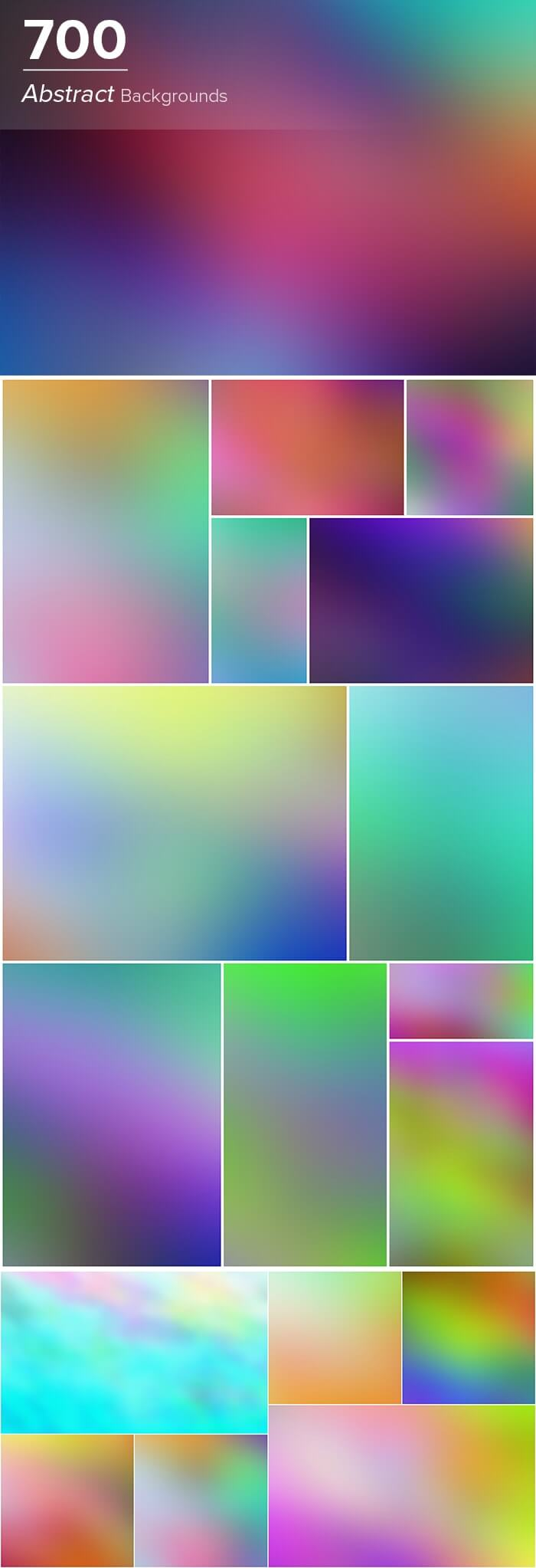 2000+ High Resolution Digital Backgrounds Bundle - $29 - 700 Abstract Backgrounds