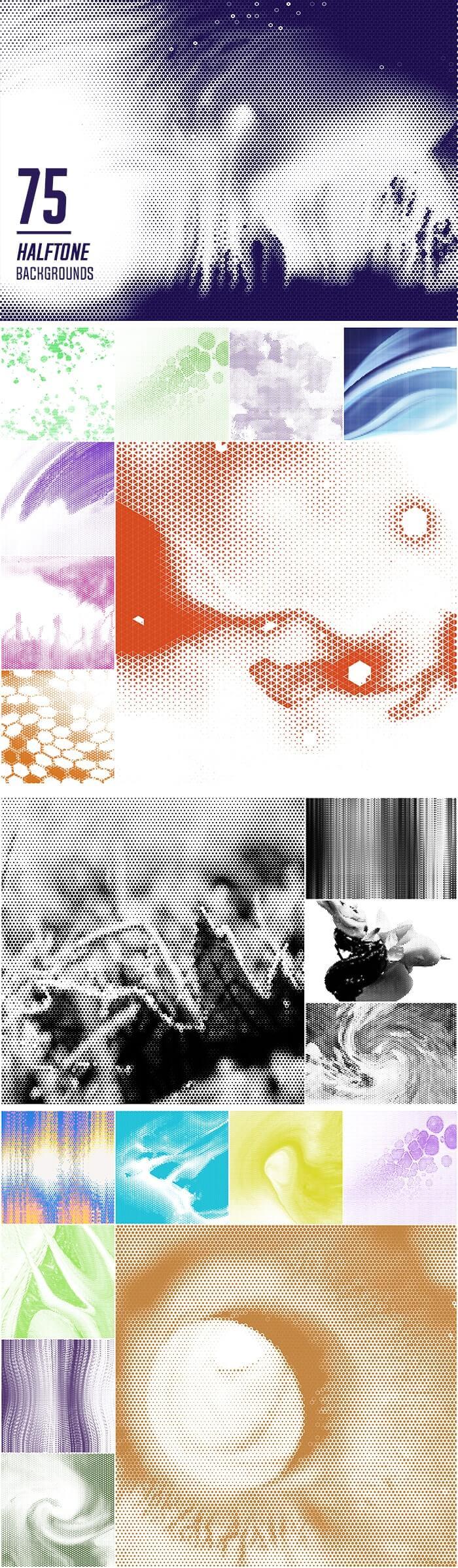 2000+ High Resolution Digital Backgrounds Bundle - $29 - 75 Halftone Backgrounds
