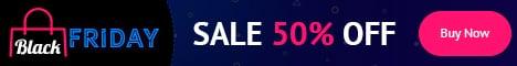 18+ Black Friday Banners: Google AdSense and  Social Media Banners - just $10 - BlackFriday 468x60 en
