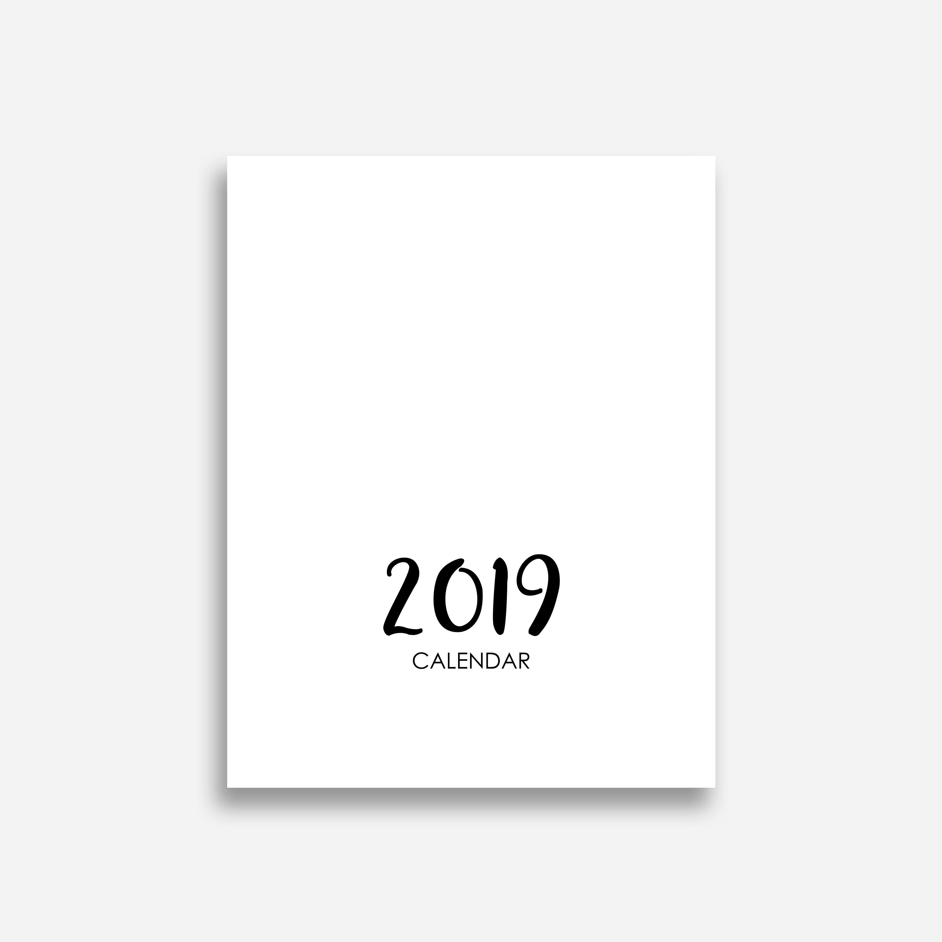 2020 Printable Calendar Template - $9 ONLY - Display cover