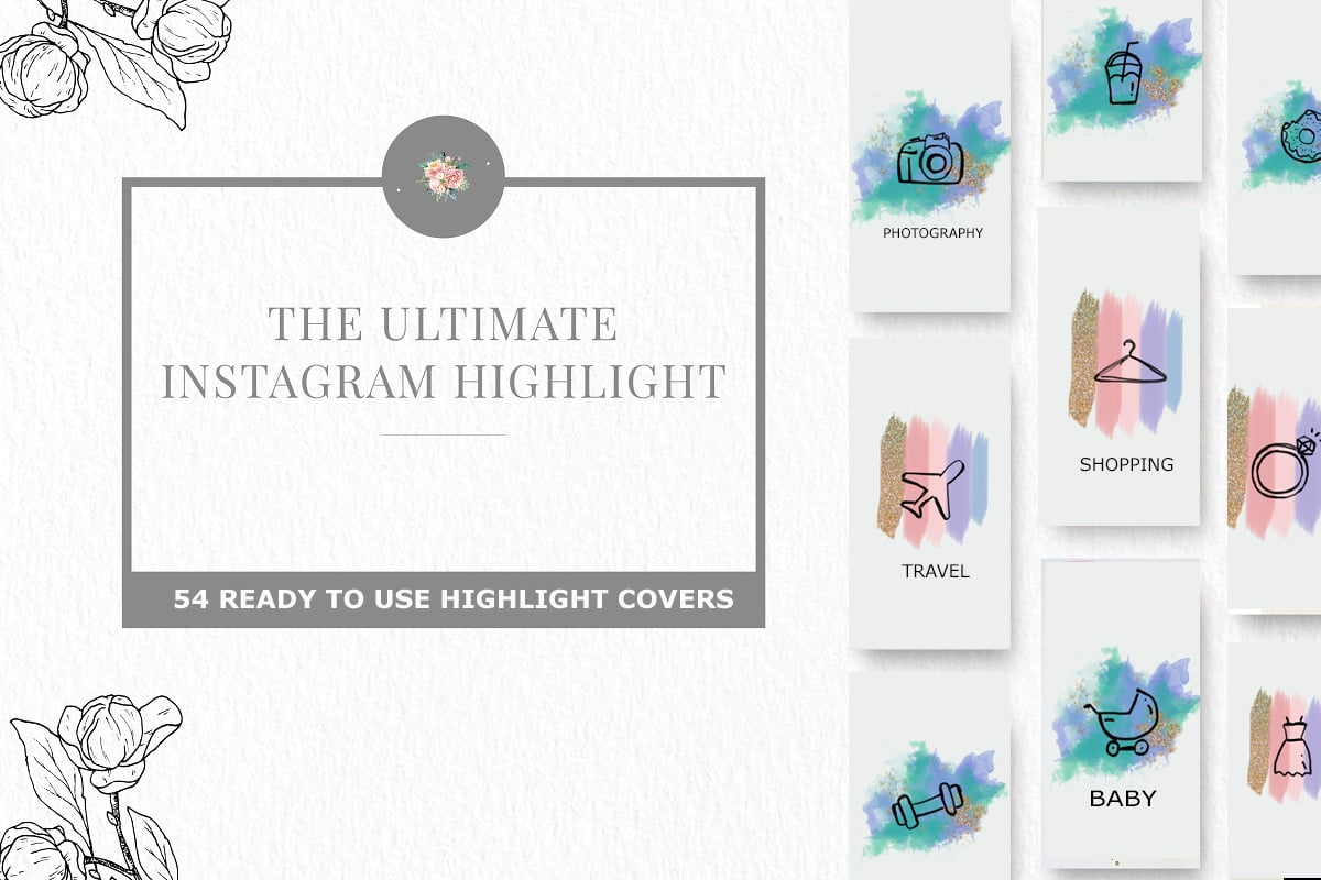 Ultimate Instagram Highlight Icons – $24