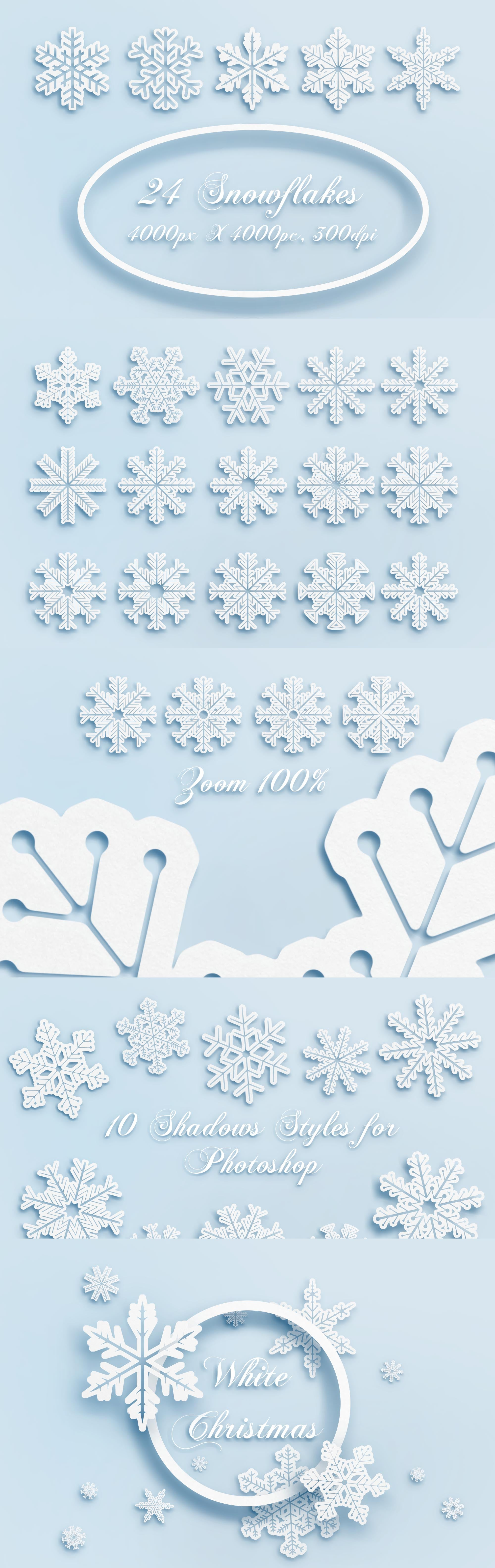 100 Winter Backgrounds: Prepare Your Designs for the Winter Season - WhiteChristmas P1