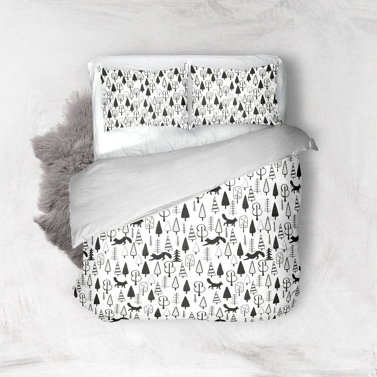 Black and White Set: 100 Minimal Elements & 10 Patterns - bright background