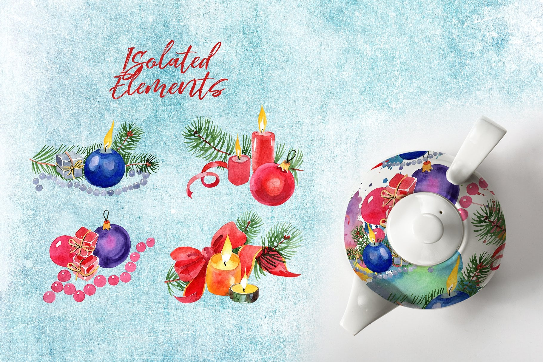 A set of New Year's candles PNG set - $11 - cover 7 1 2
