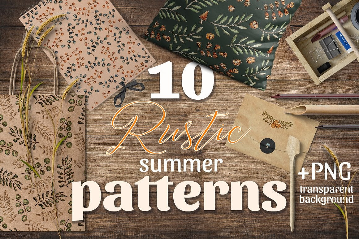 10 Rustic Patterns - $5 ONLY - presentation1
