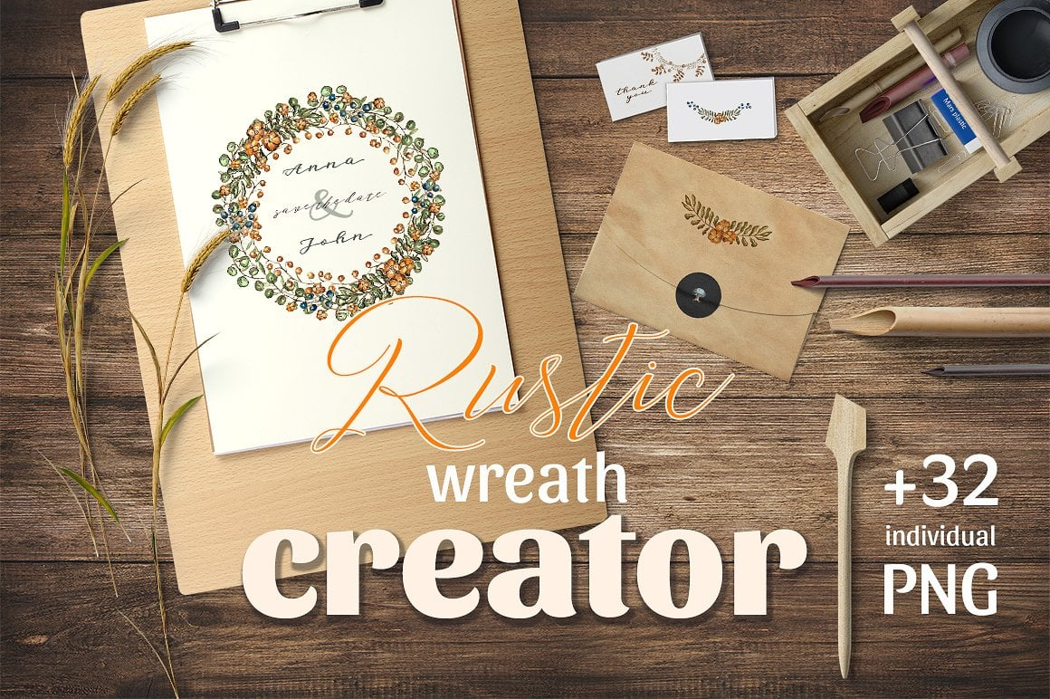 Rustic Wreath Creator - just $10 - presentation1cover 1 3