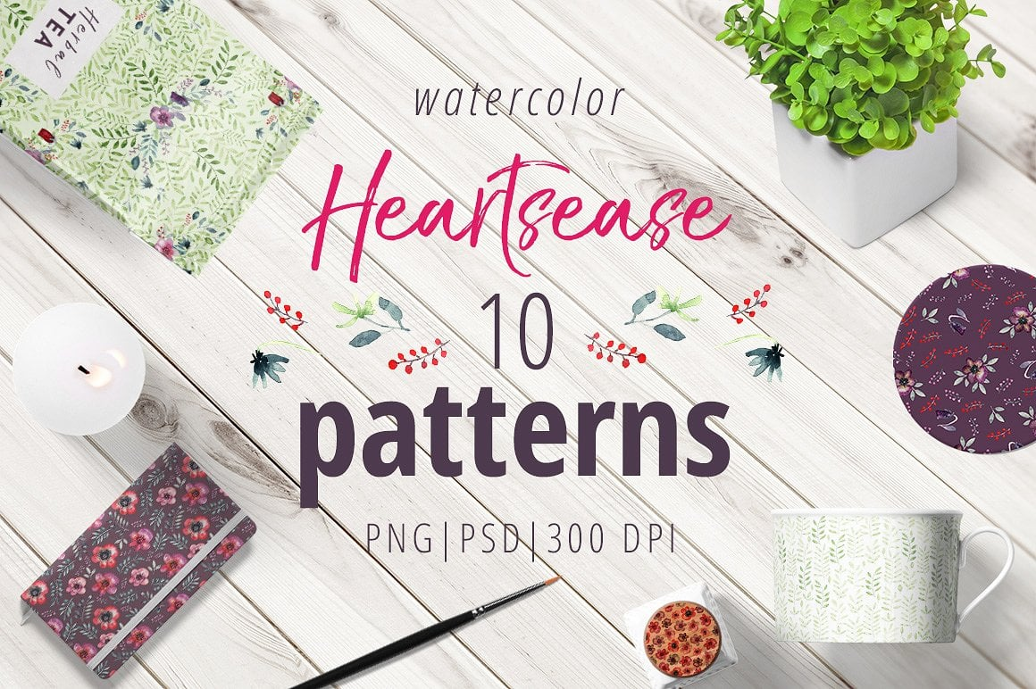 Heartsease Cool Patterns - $8 ONLY - presentation1cover 1 7