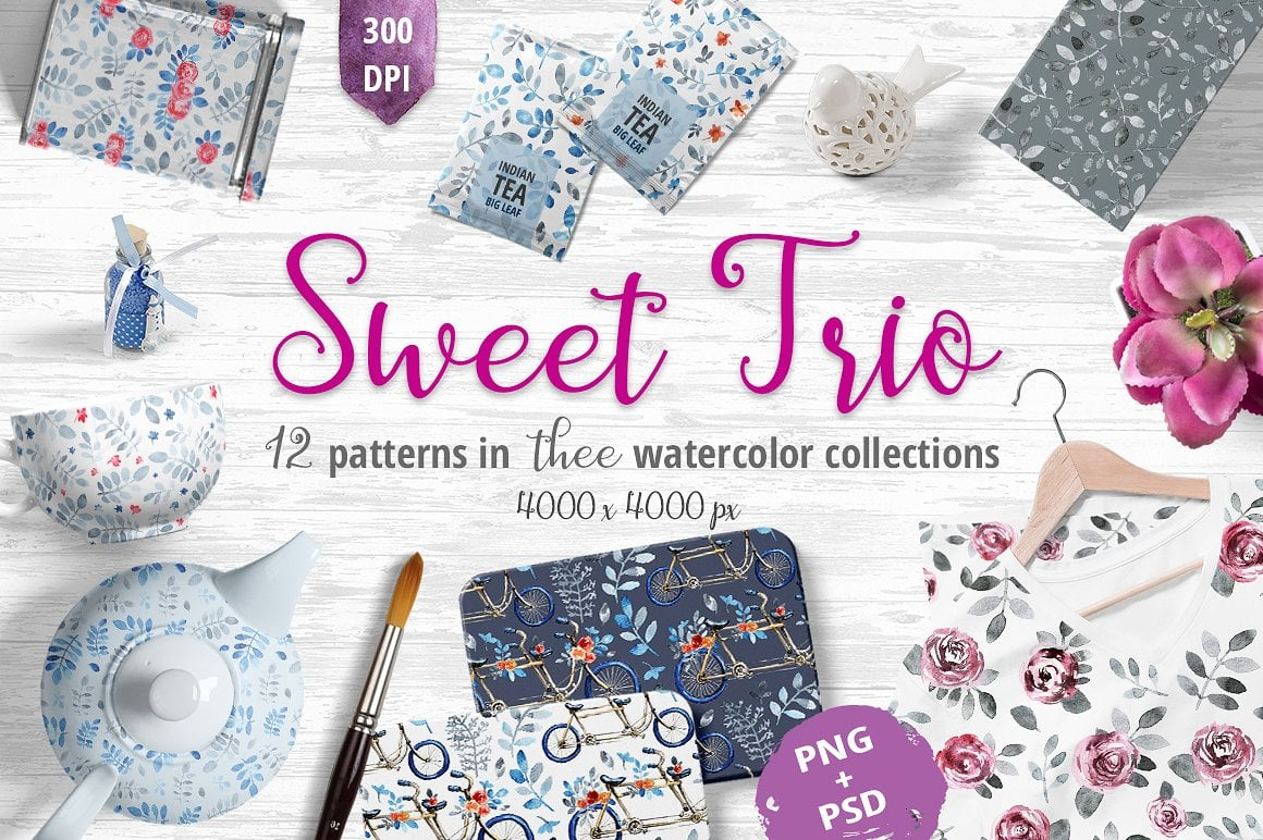Sweet Trio - Pattern Set - $9 - presentation1cover 1 9