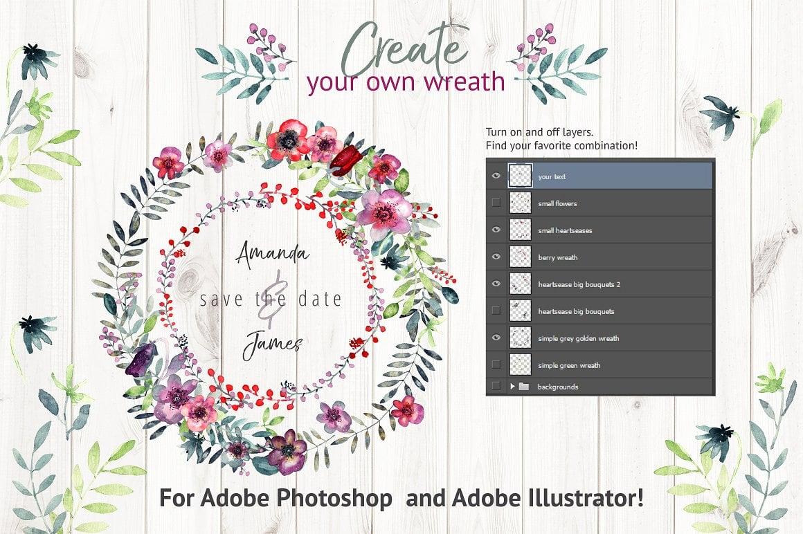Heartsease Watercolor Wreath Creator - $10 ONLY - presentation2 1 6