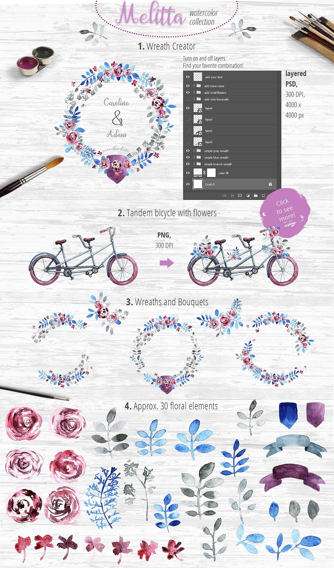 Trio of Duos: 3 Wreath Creators and 3 tandem bicycles - just $17 - presentation4 1 7