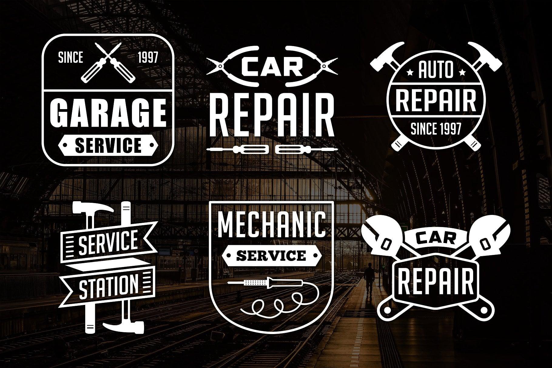 Vintage Mechanic Logo & Badge