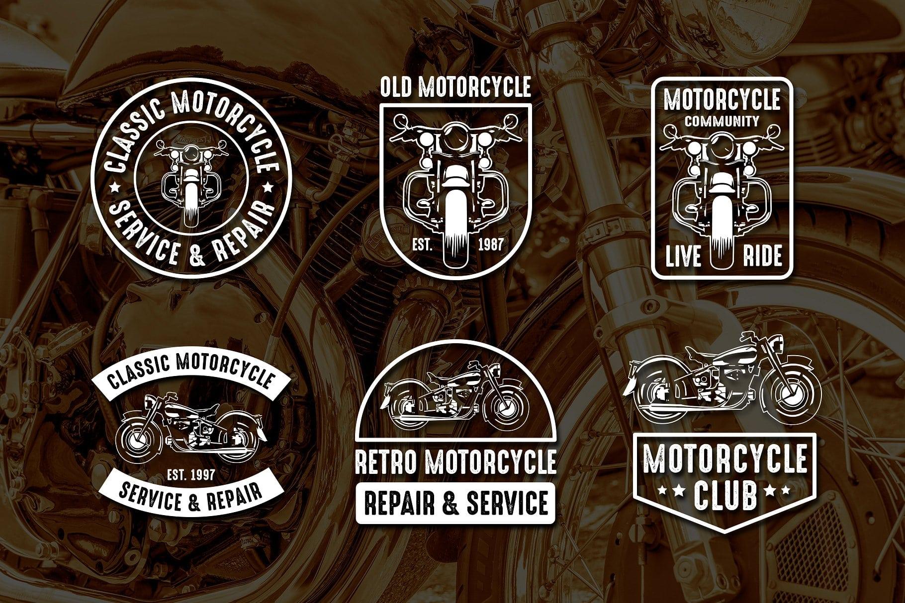 Vintage Motorcycle Logo & Badge