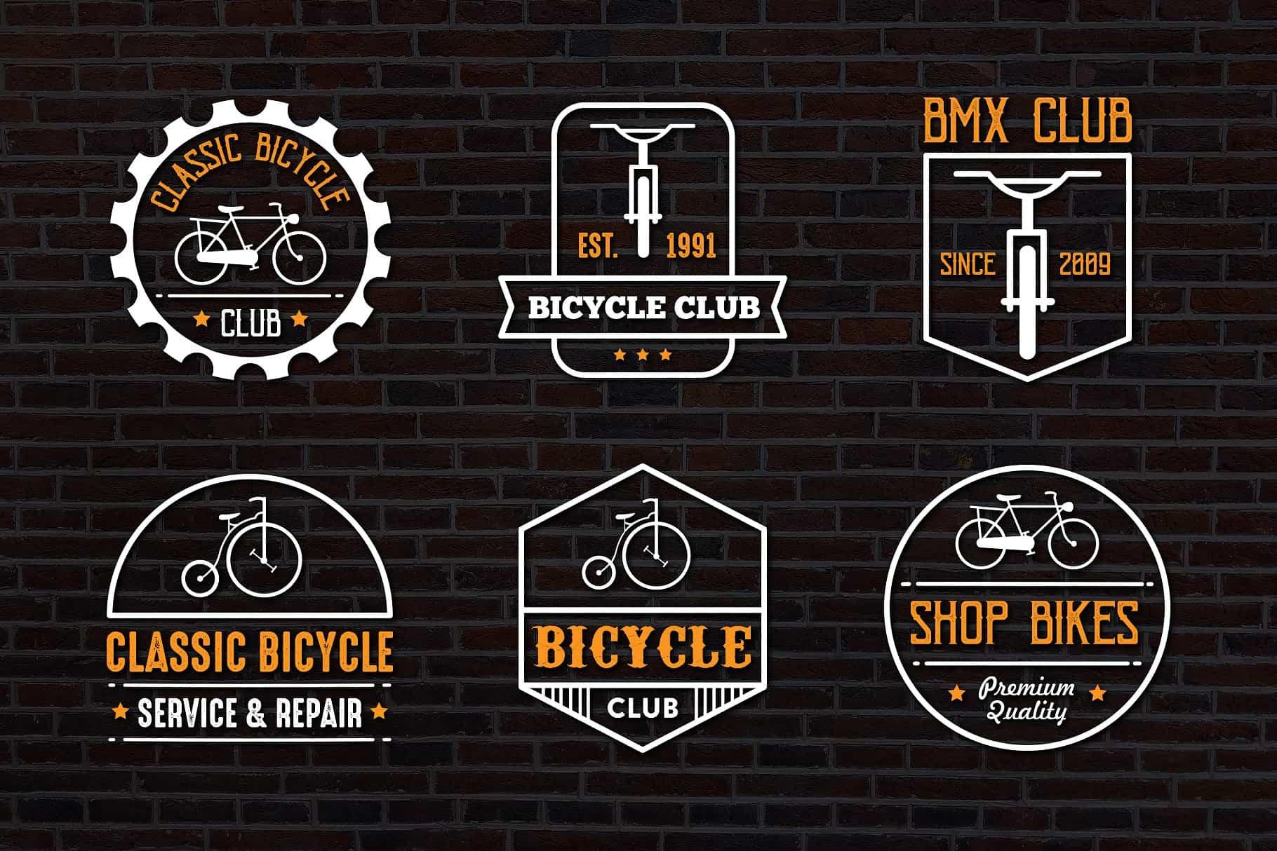 Bicycle Vintage logo & Badge