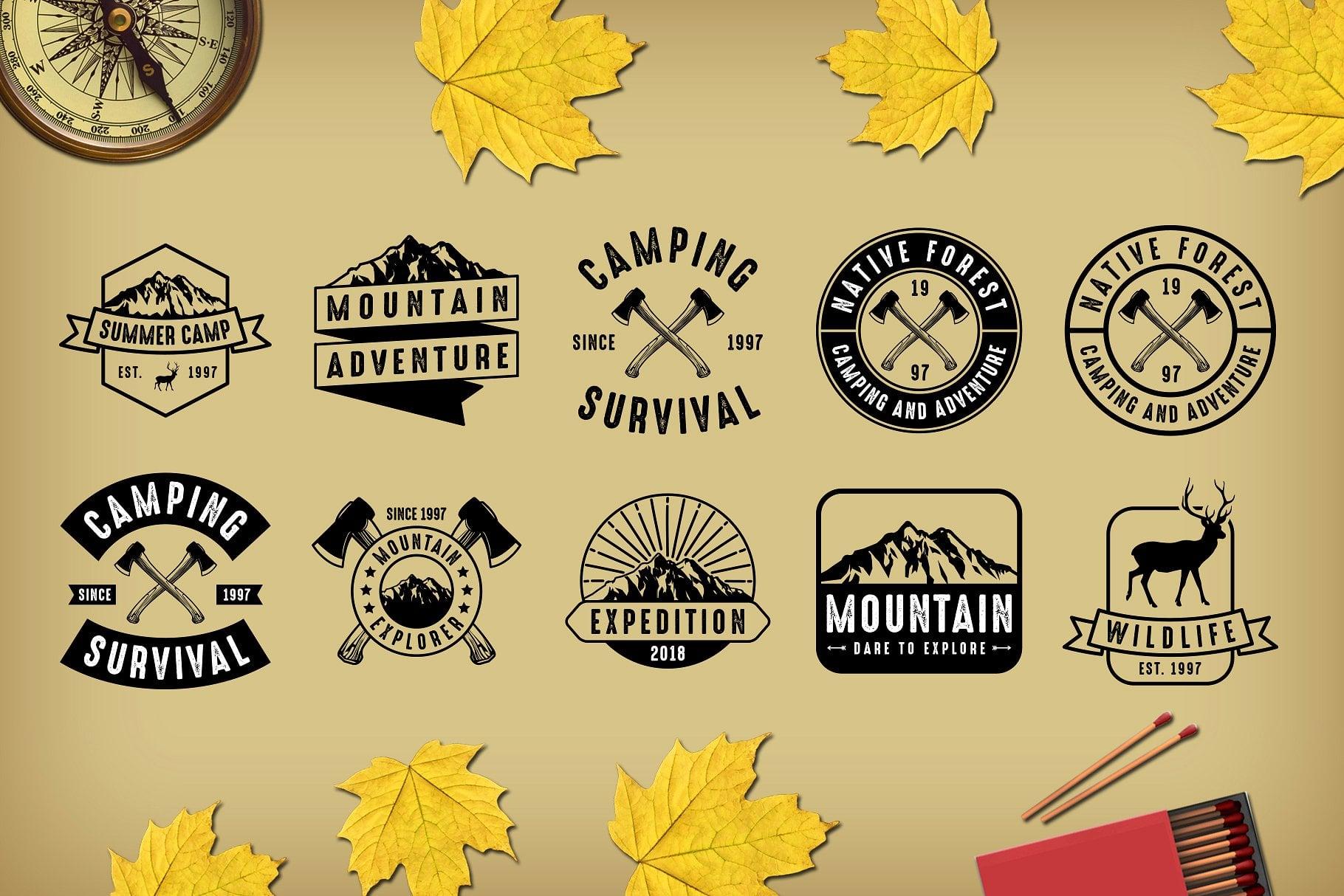 67 Vintage Badges & Logo - just $15 - previewcm 1