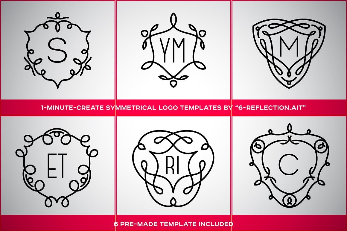 Symmetric Ornament Adobe Illustrator Templates