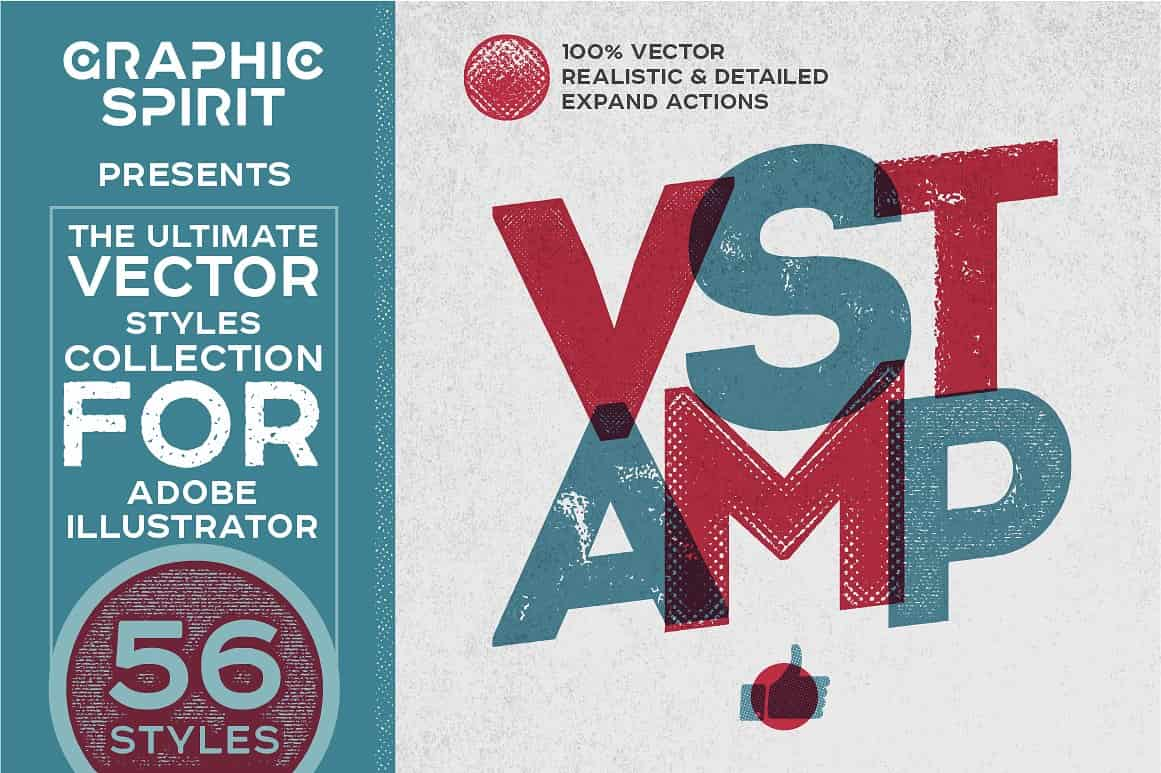 Vector Stamp Effects Styles - just $15 - view1 07 min