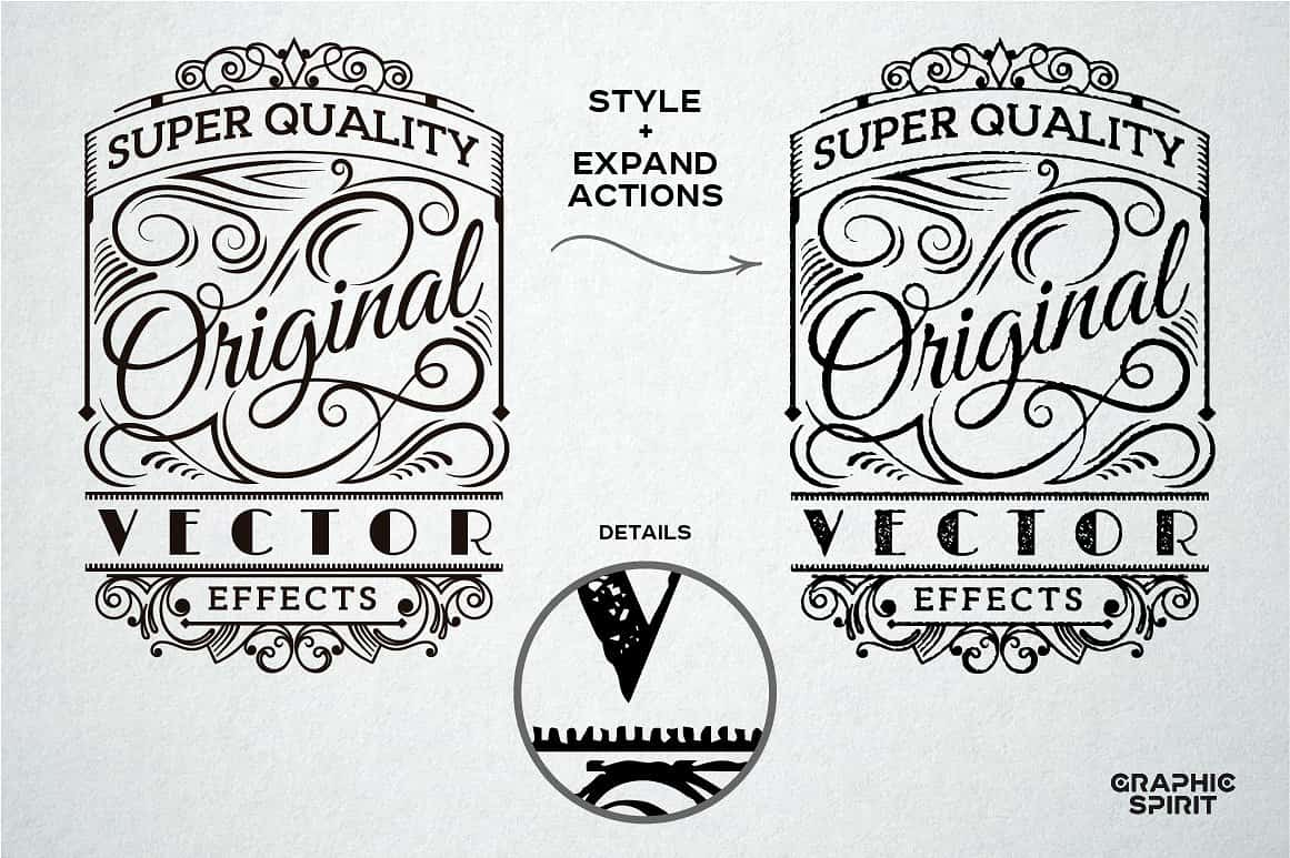 Vector Stamp Effects Styles - just $15 - view2 01 min