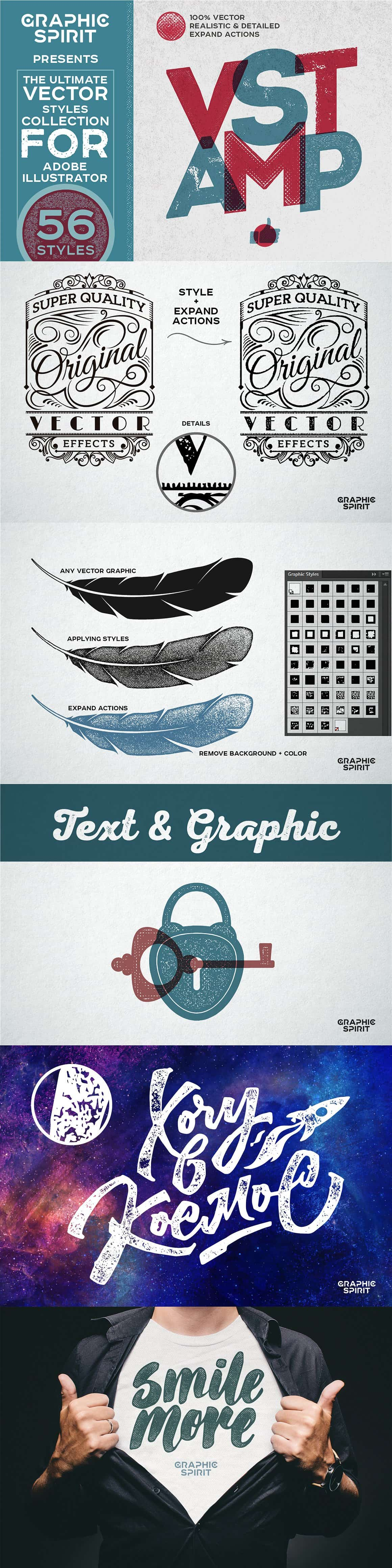 Vector Stamp Effects Styles