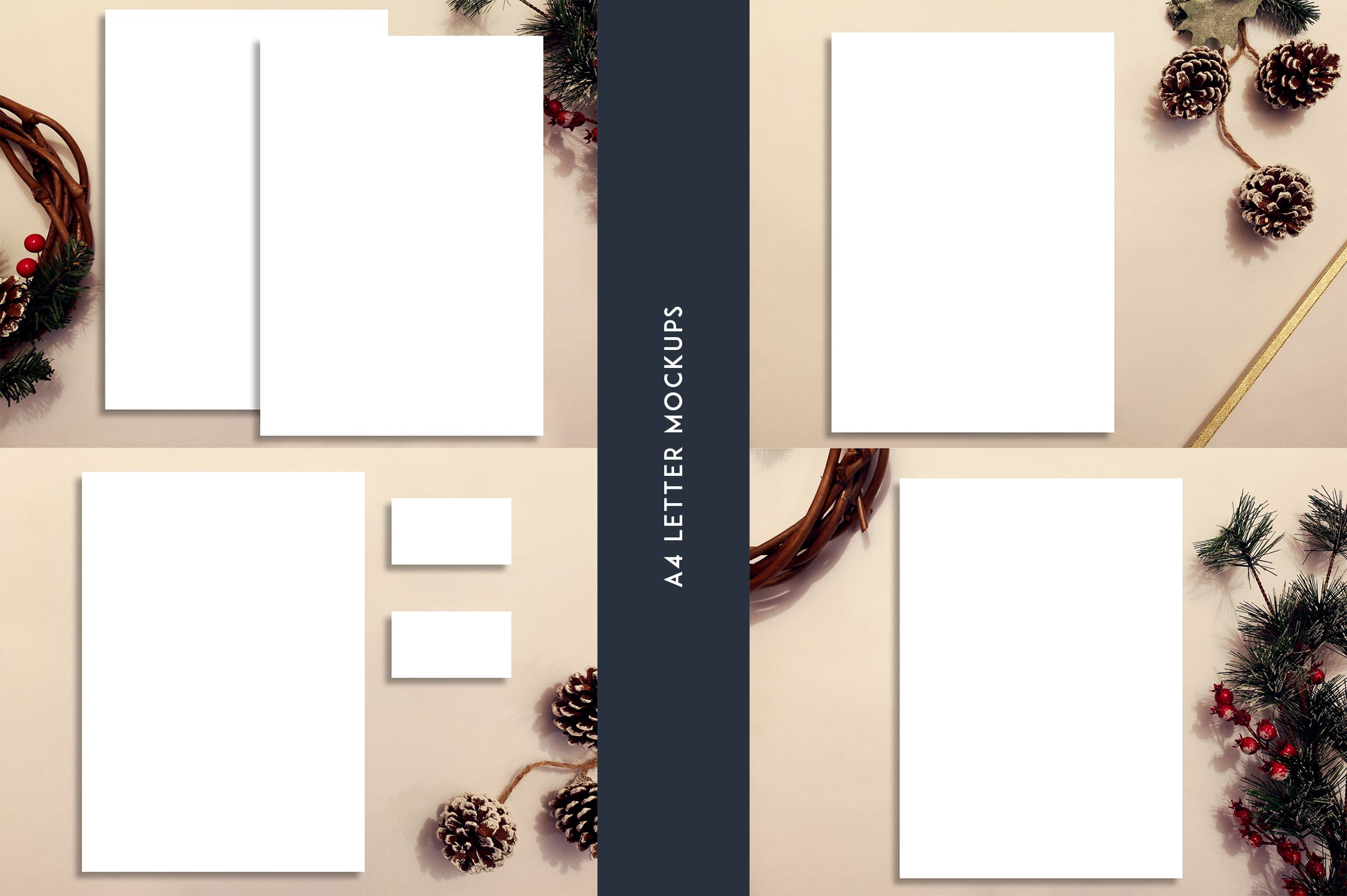 12 Christmas Mockups + Backgrounds - $9 ONLY - 2 4