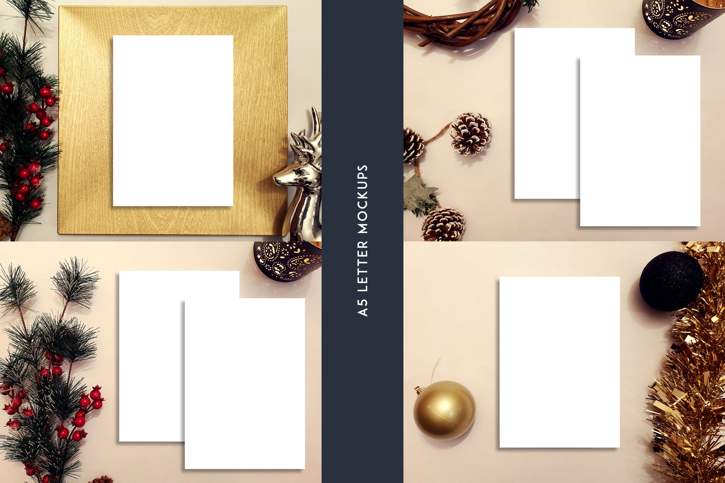 12 Christmas Mockups + Backgrounds - $9 ONLY - 4 3
