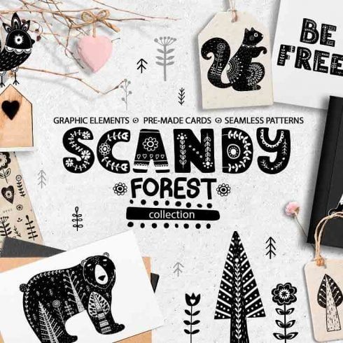 Scandy Forest Collection - $10 ONLY! - 600 10 490x490