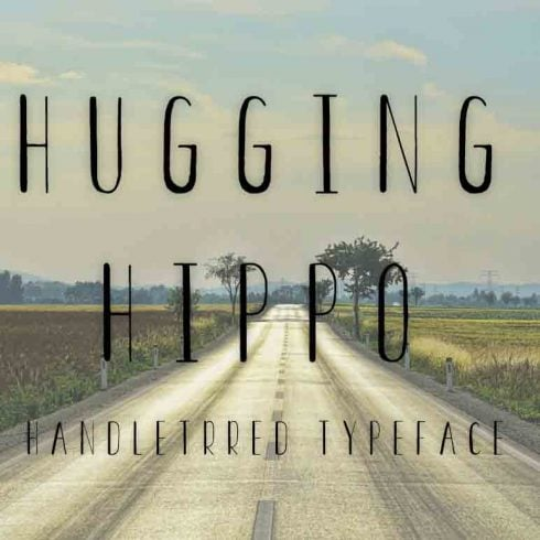 Hugging Hippo regular font - $4 - 600 11 490x490