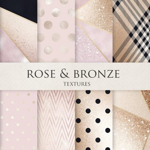 Rose, Gold, Bronze & Luxury Textures - $4 - 600 2 490x490