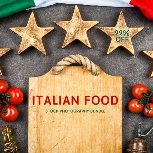 120+ Italian Food Stock Photography Bundle - $35 ONLY - 600 23 490x490