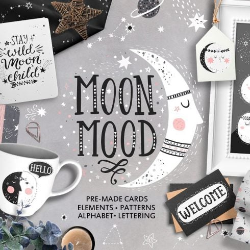Moon Mood Graphic Collection - $15 - 600 25 490x490