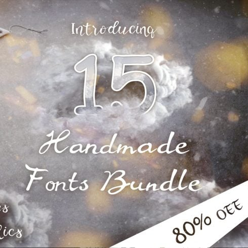 15 Creative Handmade Fonts - $19 ONLY - 600 28 490x490