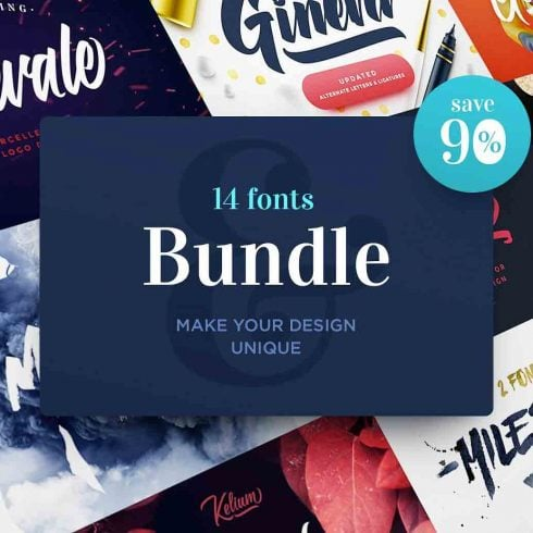 Web-safe Fonts - $14 for 14 Fonts Bundle - Best Deal - 600 8 490x490
