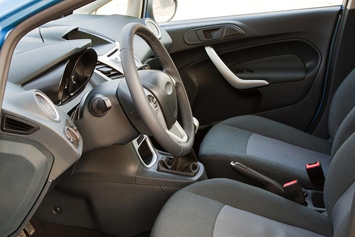 Interior of a modern car, front seats