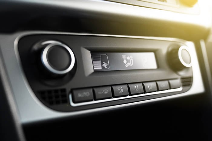 Air conditioning, climate control system in a car